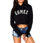 Gomez Crop Top Capuche Noir
