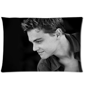 Custom Fashionable Leonardo Dicaprio Queen Size Rectangle Pillow Cases 20''*30''(one Side)