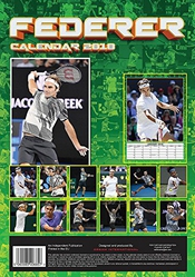 Calendrier Roger Federer - 2017 - 2018s - Sports - 12 Month By Dream