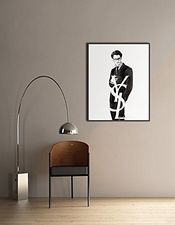 Poster Black And White Minimalist Movie Yves Saint Laurent (16 X 20