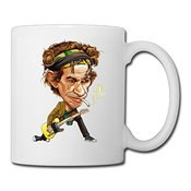 Cool Pattern Keith Richards Ceramic Coffee Mug, Tea Cup | Best Gift For Men, Women And Kids - 13.5 Oz, White