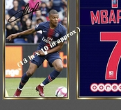 Sgh Services Neuf Poster Encadré Kylian Mbappe Paris Saint Germain Photo Affiche Pre-print Impression Photo Encadrée Cadre En Panneau Mdf Football # 7